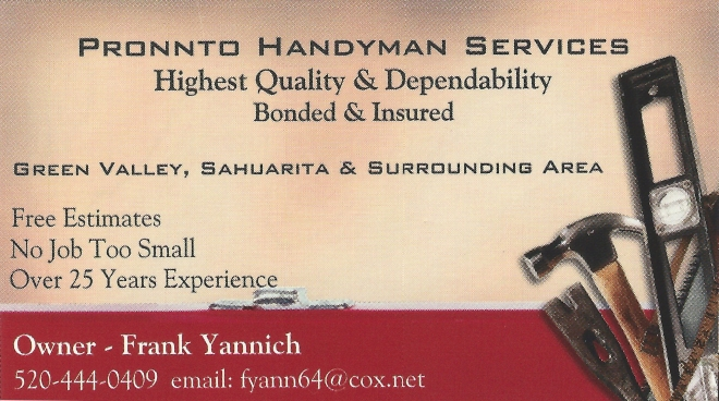 Pronnto Handyman Services - Quail Creek HOA